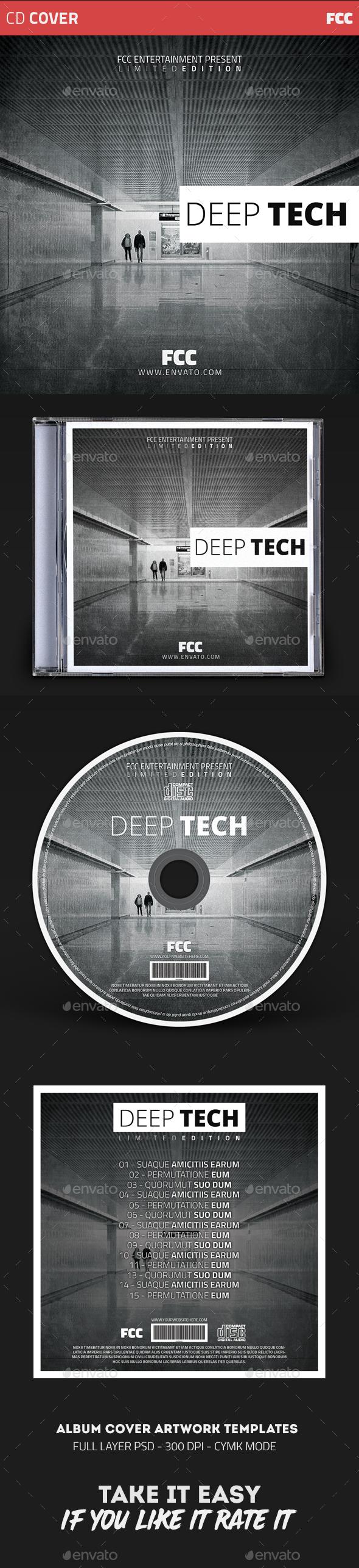 Deep Tech Album Cover Templates - CD & DVD Artwork Print Templates