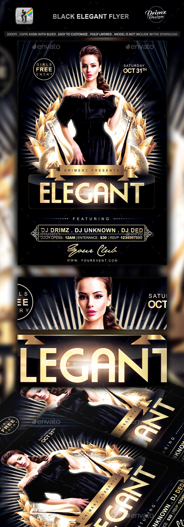 Black Elegant Flyer - Events Flyers