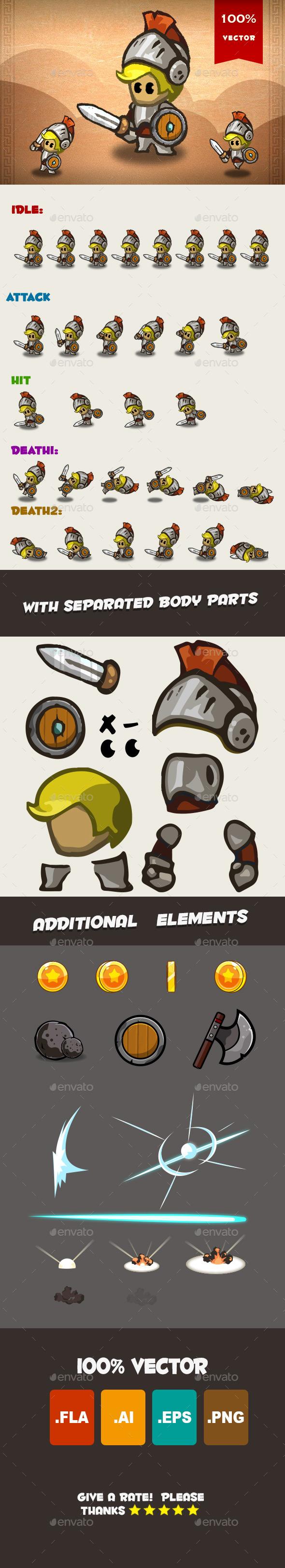 Knight Spritesheet 01 - Sprites Game Assets