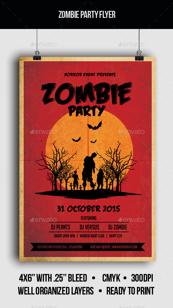 Zombie Party - Flyer - Clubs & Parties Events