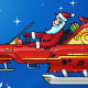 Santa Driving a Futuristic Sleigh - GraphicRiver Item for Sale