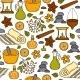 Seamless Ayurveda Background - GraphicRiver Item for Sale