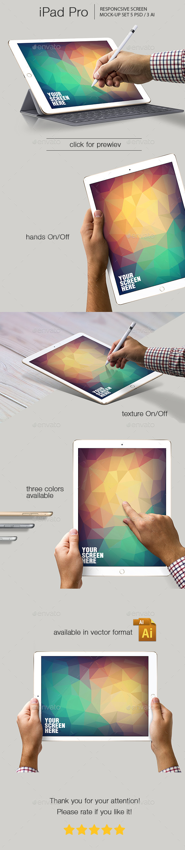 iPad Pro Responsive Mockup - Mobile Displays
