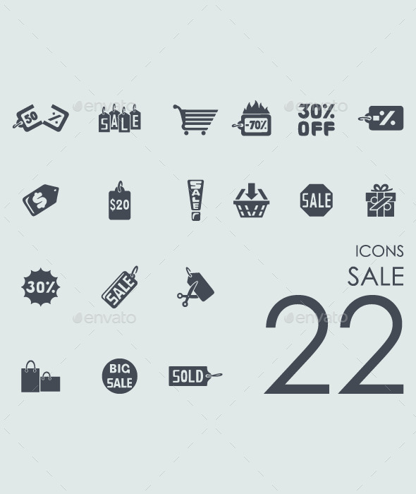 22 Sale icons - Icons