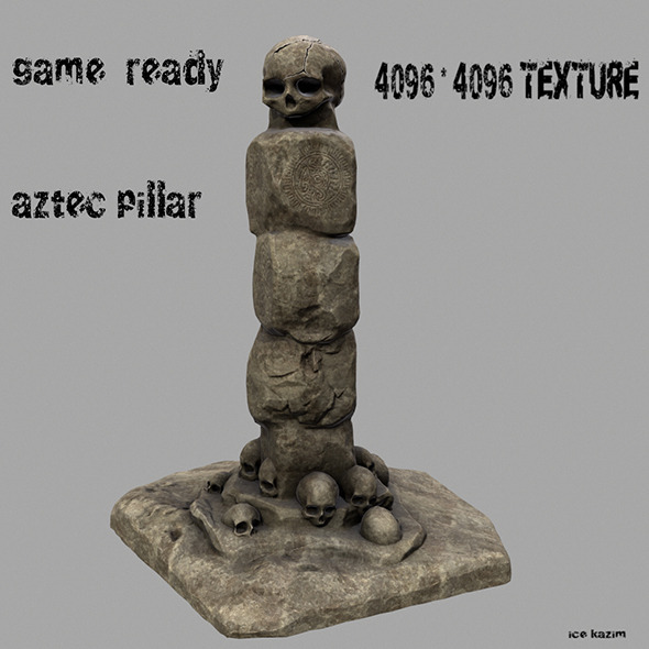 skull_pillar - 3DOcean Item for Sale