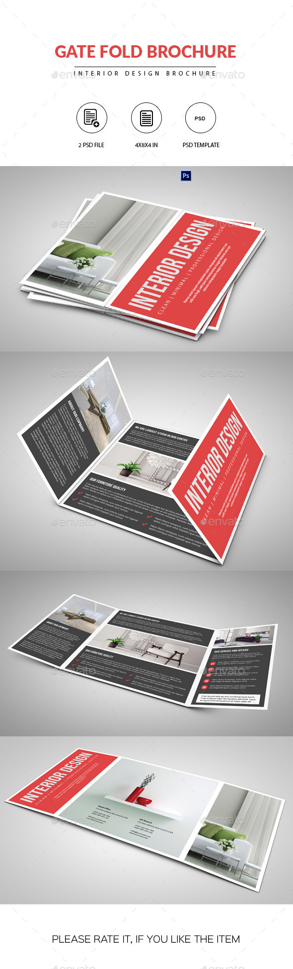 gate fold brochure template indesign - gate fold brochure psd mockup download