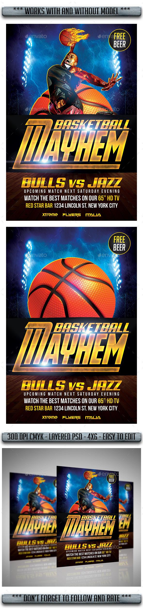 Basketball Flyer - Flyers Print Templates