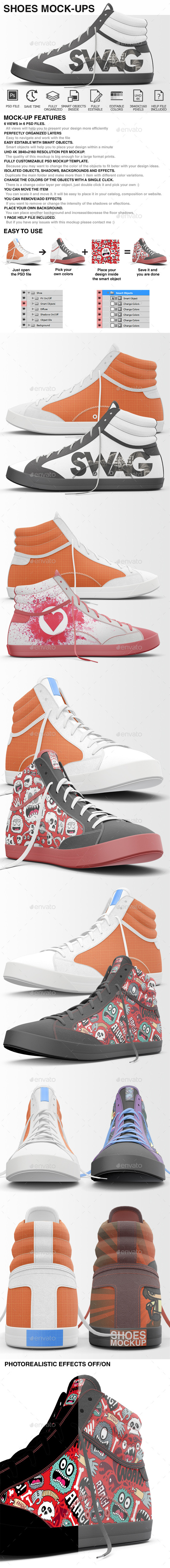 Shoes Mockup - Sneakers Shoes Mockups - Miscellaneous Apparel