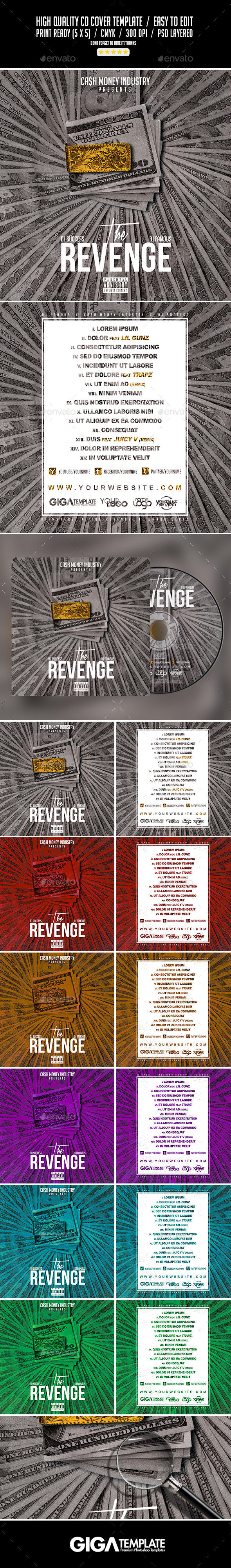 The Revenge | Mixtape Tape Album CD Cover Template - CD & DVD Artwork Print Templates
