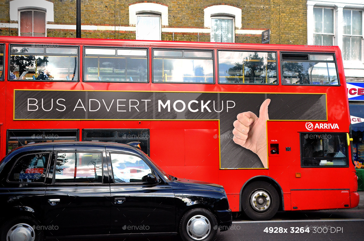 3 Smart London Bus Advert Mock-Ups