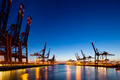 Container Terminals at Night - PhotoDune Item for Sale