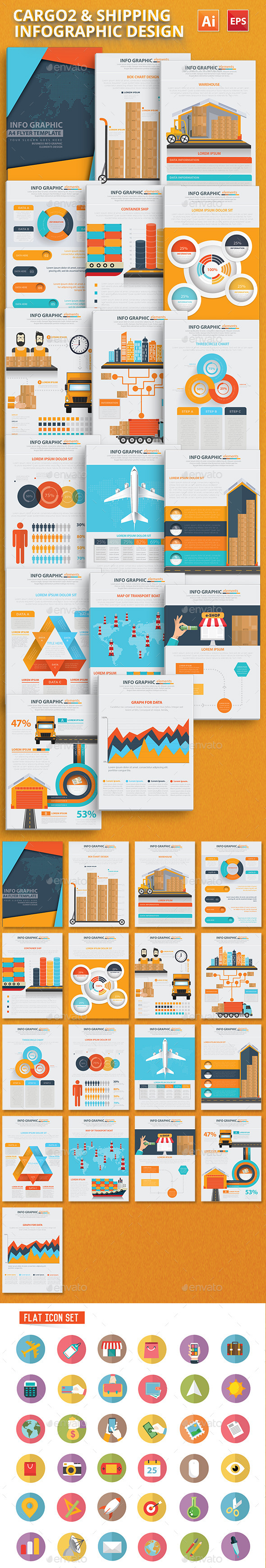 Cargo2 & Logistic Infograhphics Design - Infographics