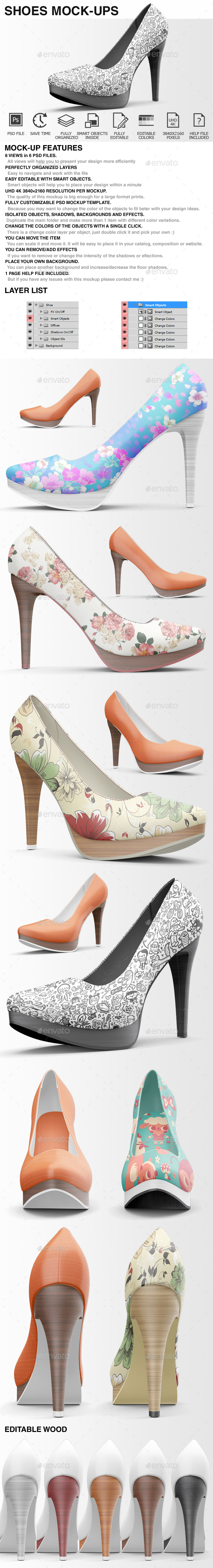 Shoes Mockup - High Heels Mockup - Miscellaneous Apparel