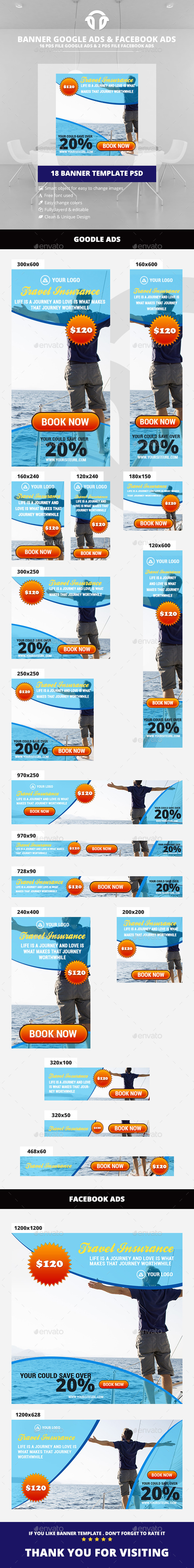 Travel Agency Ads - Banners & Ads Web Elements
