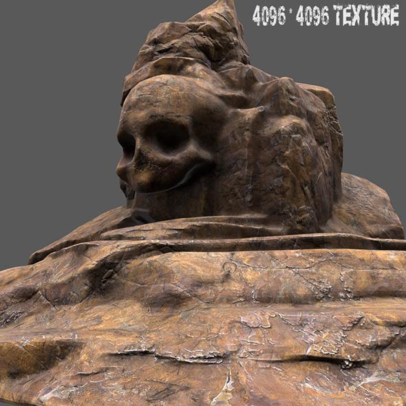 skull mountain 1 - 3DOcean Item for Sale