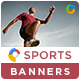 HTML5 Sports & Fitness Banners - GWD - 7 Sizes