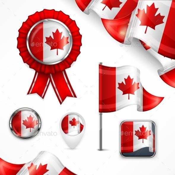 Canadian National Symbols - Miscellaneous Vectors