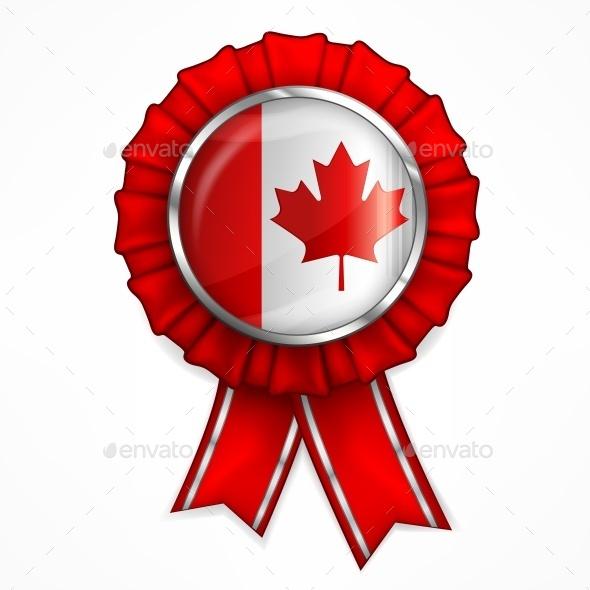 Canadian Award Ribbon  - Miscellaneous Vectors