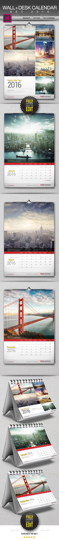 Wall + Desk Calendar 2016 - Calendars Stationery