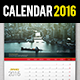 Wall + Desk Calendar 2016 - GraphicRiver Item for Sale