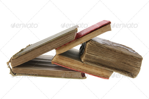 Vintage Books - Stock Photo - Images