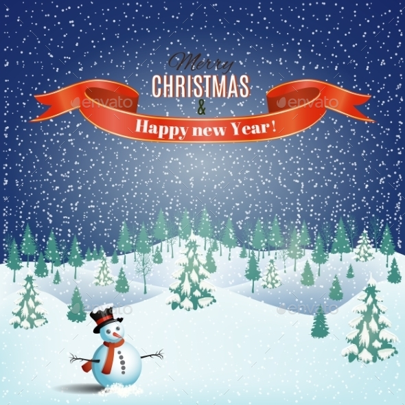Christmas Winter Landscape Background. - Christmas Seasons/Holidays