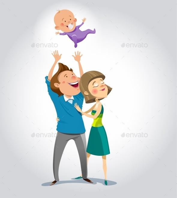 Happy Family - Miscellaneous Vectors
