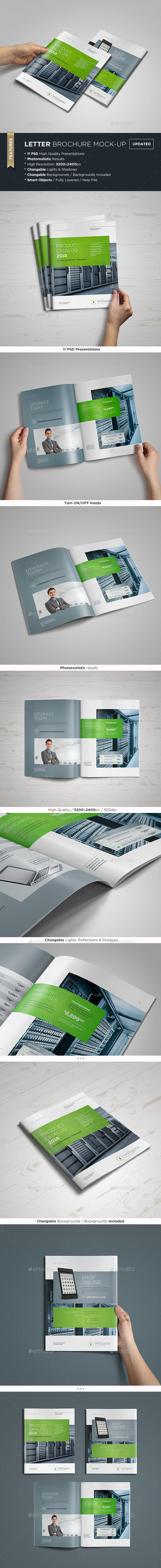 US Letter Brochure / Catalog Mock-Up - Brochures Print