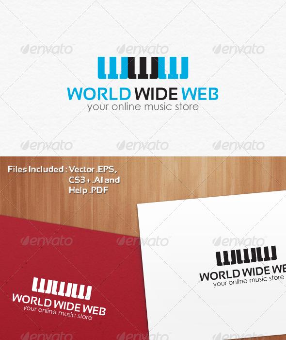 Online Music Store Logo Design - Letters Logo Templates