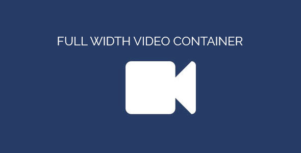 Full Width Video Container | Adobe Muse Widget - CodeCanyon Item for Sale