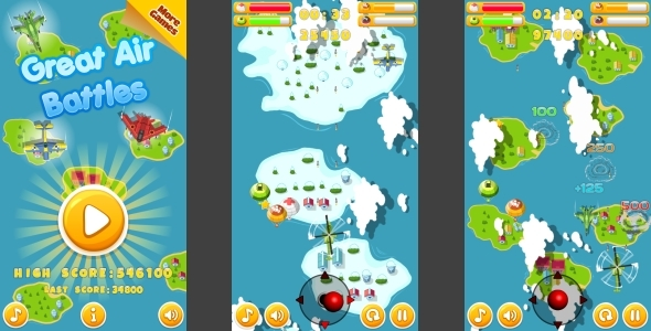 Warriors VS Evil Spirits - HTML5 Game 5 Levels + Mobile Version! (Construct 3 | Construct 2 | Capx) - 48