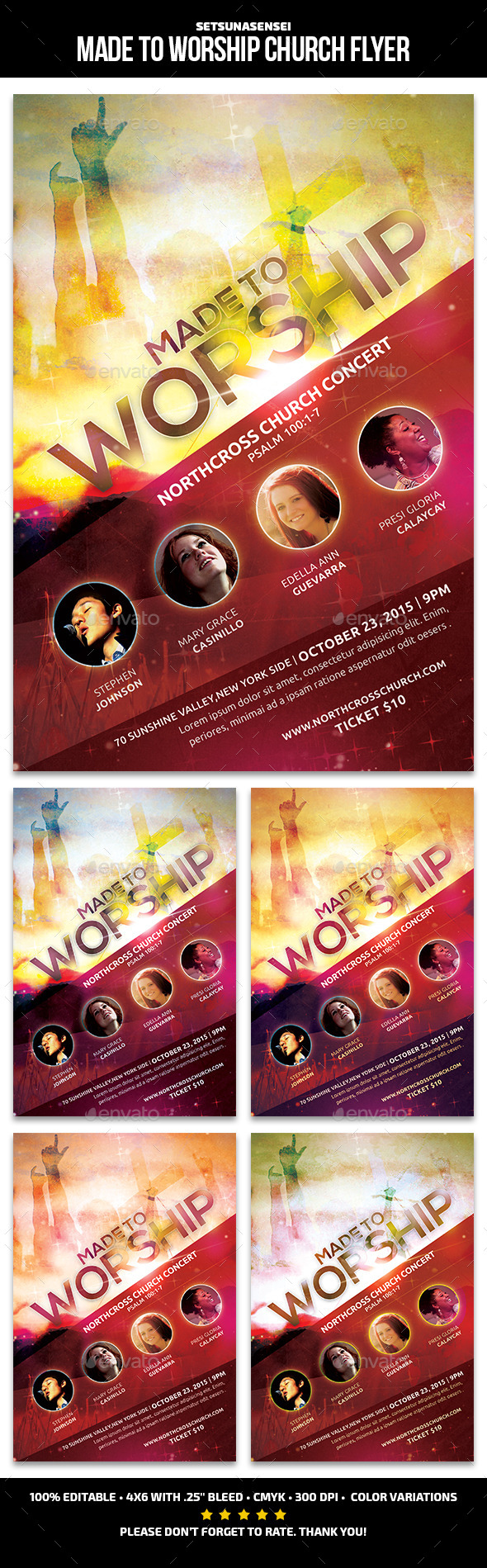 Made to Worship Church Flyer - Church Flyers