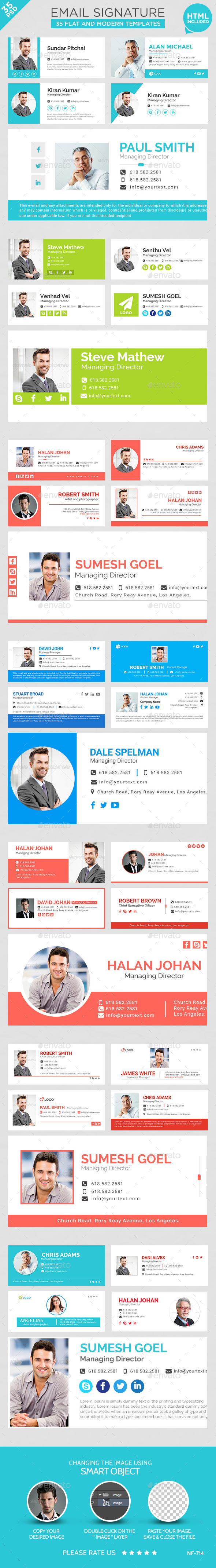 Email Signature - 35 Templates - Miscellaneous Web Elements