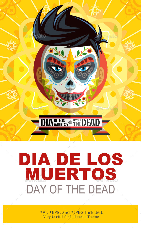 Dia De Los Muertos Day Of The Dead Face Painting - Halloween Seasons/Holidays