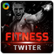 Fitness and Gym Twitter Headers - 3 Variations - GraphicRiver Item for Sale