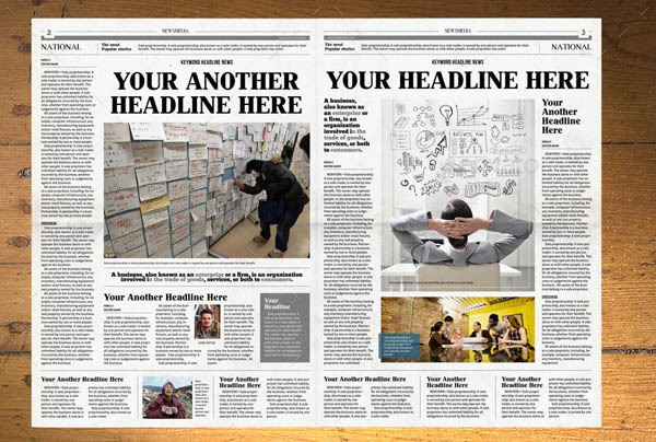 NEWSPAPER TEMPLATE 12 PAGES INDESIGN (A3) by hiro27 | GraphicRiver
