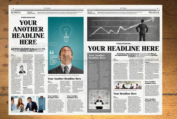 Newspaper Template 12 Pages Indesign A3