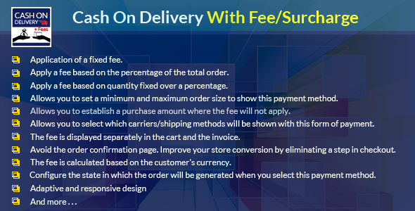 Prestahop Cash On Delivery With Fee/Surcharge Module - CodeCanyon Item for Sale
