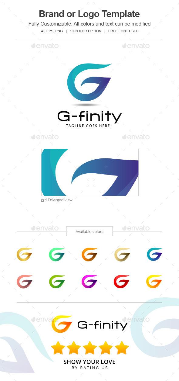 G-finity letter G Logo 144-G