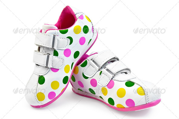 Sneakers for girls - Stock Photo - Images