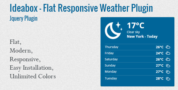 Ideabox - Flat Responsive Weather Plugin - CodeCanyon Item for Sale