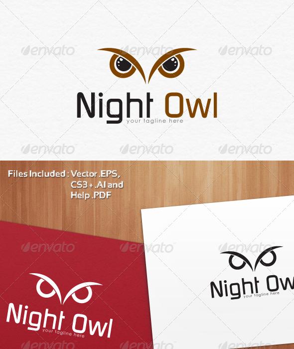 Night Owl Logo Templates - Symbols Logo Templates