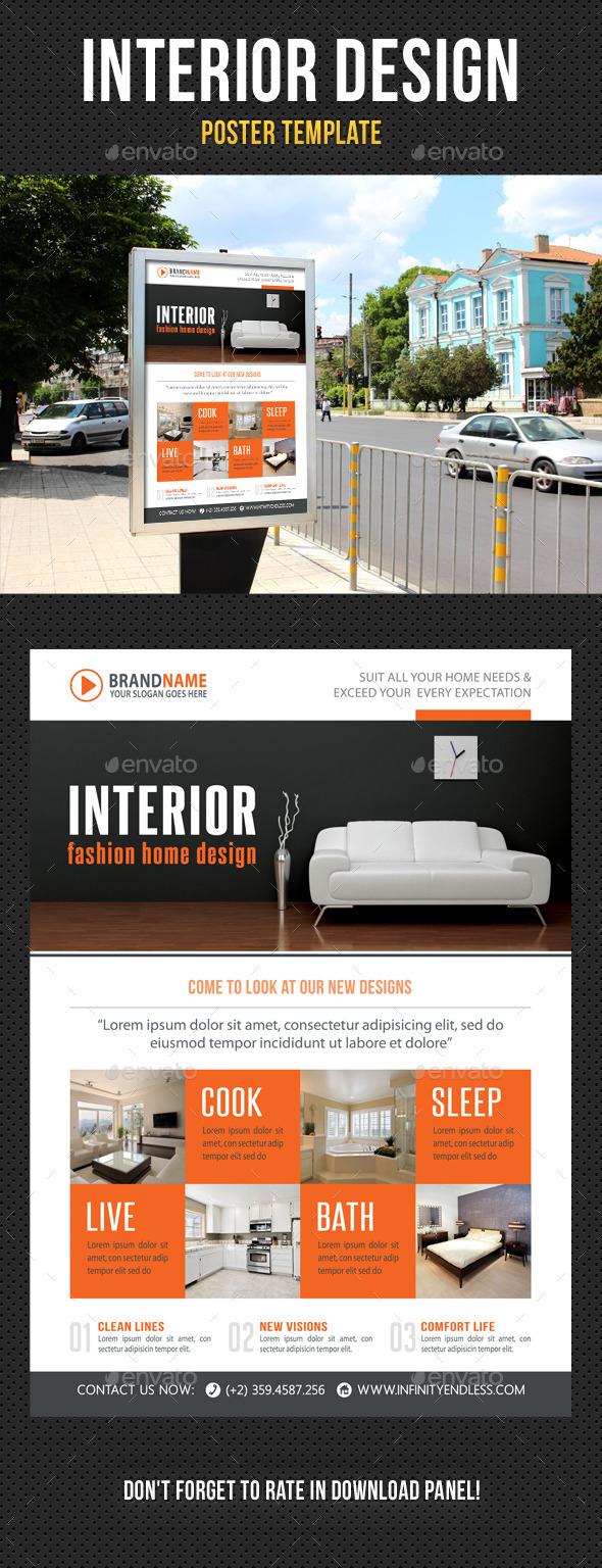 Interior Design Poster Template V08 - Signage Print Templates