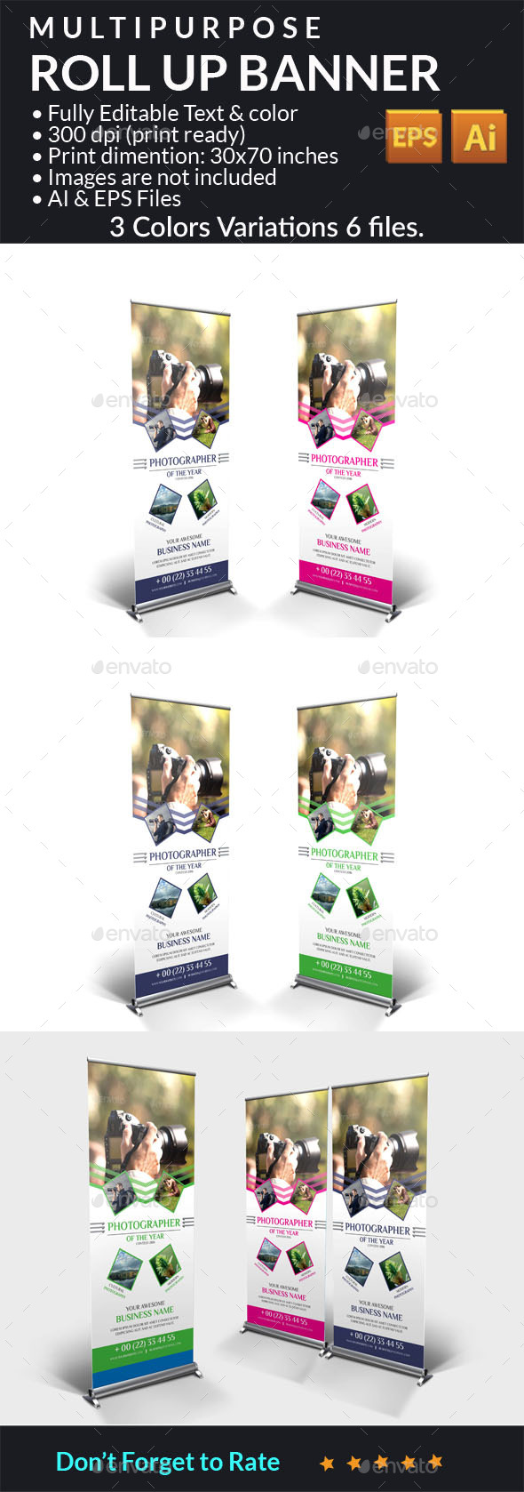 Multipurpose Roll Up Banner - Signage Print Templates