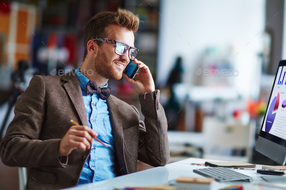 Calling at work - Stock Photo - Images