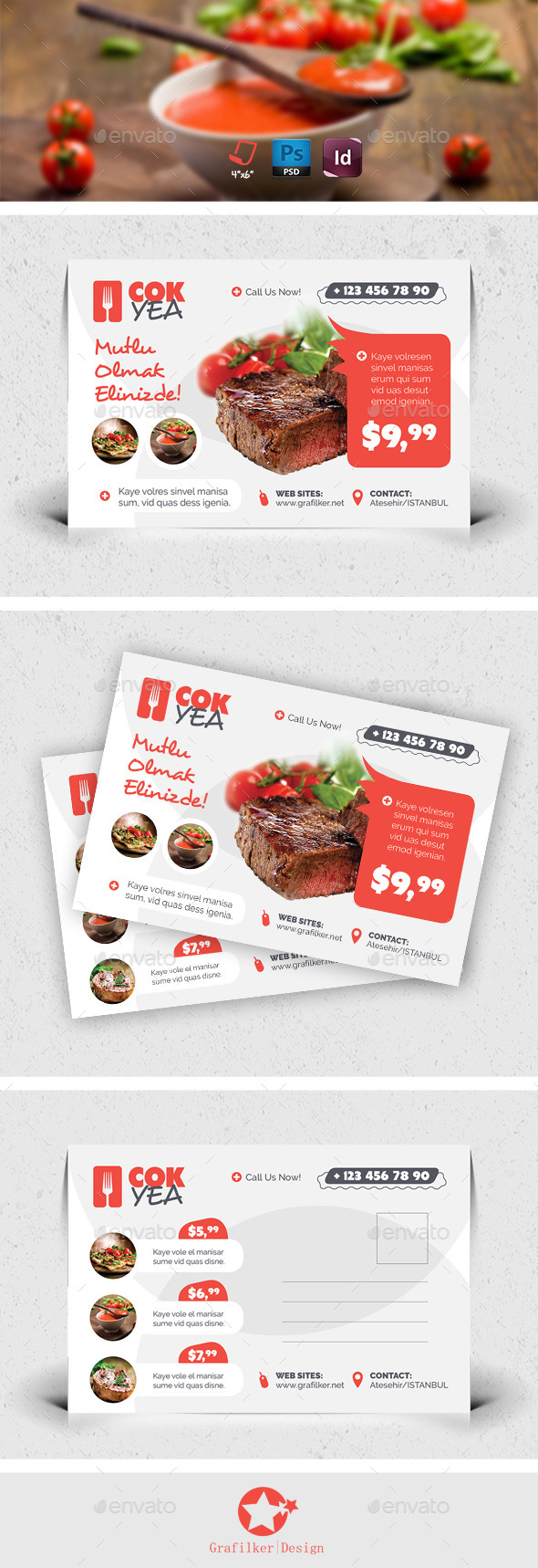 Restaurant Postcard Templates - Cards & Invites Print Templates
