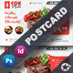 Restaurant Postcard Templates - GraphicRiver Item for Sale