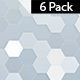 Hexagon White Background-6 Pack - VideoHive Item for Sale