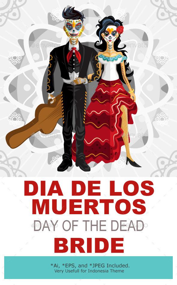 Dia De Los Muertos Day Of The Dead Bride - Weddings Seasons/Holidays