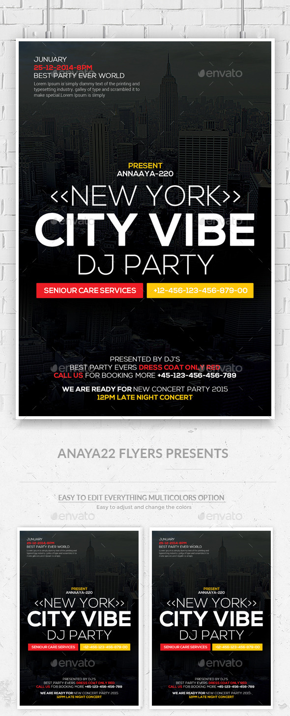 City Vibe Flyer  - Clubs & Parties Events